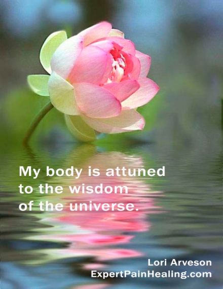 a1 My body is attuned to the wisdom of the universe lotus 7