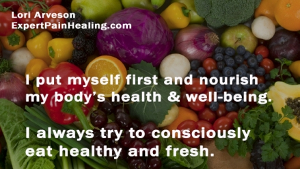1a consciously eat healthy and fresh